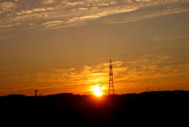 八戸の夕日